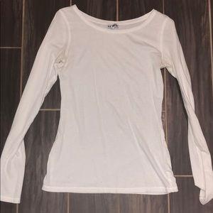 EXPRESS plain white long sleeved t-shirt